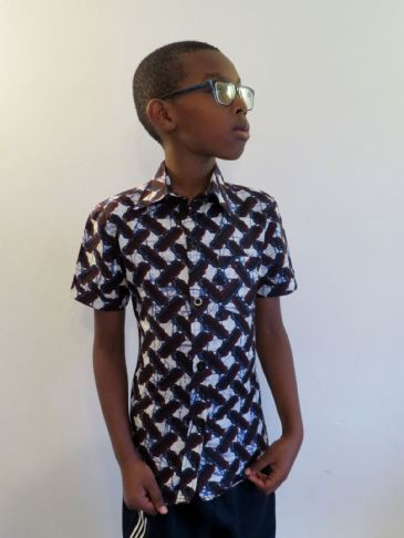 Boys Short Sleeved Shirt 'Chequer Plate'